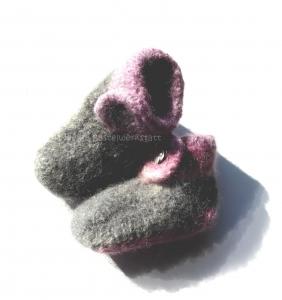 Babypuschen♥ Filzschuhe ♥ Gr. 17/18 ♥ Babyschuhe ♥ Die kleine Bastelwerkstatt