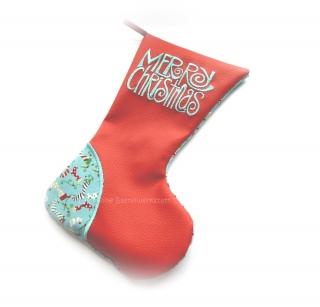 Nikolausstiefel ★ Stiefel ★ Weihnachtsdeko ★ Nikolaus ★ Stoffstiefel ★ Die kleine Bastelwerkstatt