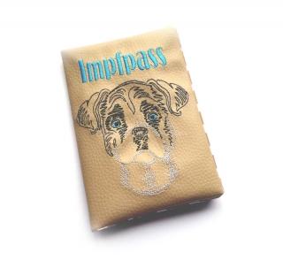 Hundeimpfpasshülle ♥ Boxer ♥ Impfpass ♥ Impfpasshülle ♥ Heimtierausweis ♥ Kunstlederhülle ♥ Die kleine Bastelwerkstatt