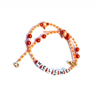 Namenskette ♥ Kinderkette ♥ Wunschname ♥ Kinderperlenkette ♥ Buchstabenkette ♥ Die kleine Bastelwerkstatt