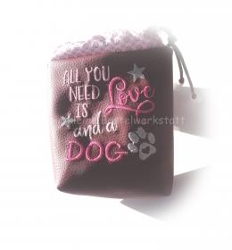 Leckerlibeutel - Leckerli Beutel bestickt - Futterbeutel - Futtertasche - Hunde Leckerli - Beutel