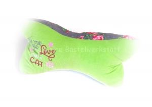 Leseknochen - Katze - Katzenliebe - Kissen - Nackenstütze