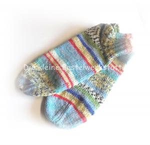 Sneakers ♥ Sneaker Socken Gr. 38 ♥ Socken - Handgestrickte Socken ♥ Kindersocken ♥ kurze Socken ♥  Bumerangferse