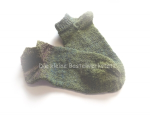 Sneakers ♥ Sneaker Socken Gr. 38/39 ♥ Socken - Handgestrickte Socken ♥ Kindersocken ♥ kurze Socken ♥  Bumerangferse