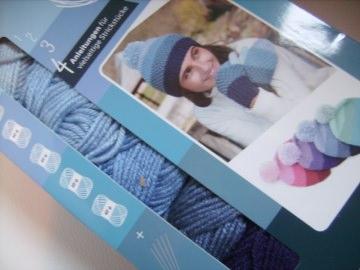 Strickgarn Harmony of colours, 4 verschiedene blautöne, Nadelstärke 4-5, Strick-Set - Handarbeit kaufen
