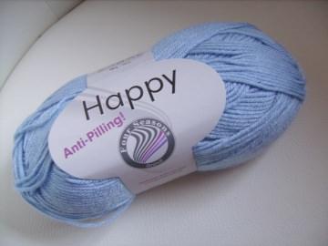 Strickgarn Happy Fb. 35, hellblau, Antipeeling, Nadelstärke 4,5-5 - Handarbeit kaufen