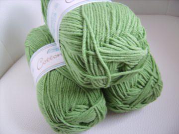 Strickgarn Cotton soft Fb. 3, grün, Baumwolle-mischgarn, Nadelstärke 3-4    - Handarbeit kaufen