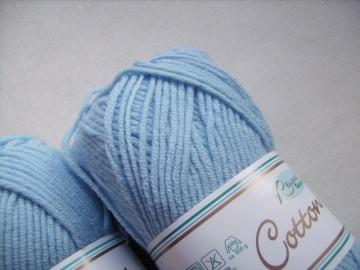 Strickgarn Cotton soft Fb.  11,  hellblau, Baumwolle-mischgarn, Nadelstärke 3-4           - Handarbeit kaufen