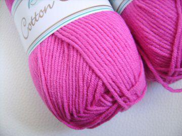 Strickgarn Cotton soft Fb.  34, himbeere, Baumwolle-mischgarn, Nadelstärke 3-4            - Handarbeit kaufen