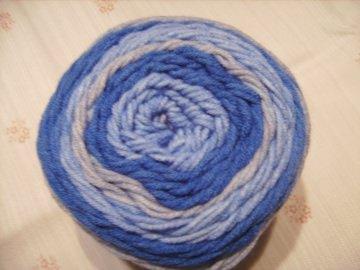 Strickgarn Lolly Pop Fb. 13, blau-grau, farbverlaufend, Nadelstärke 5-6       - Handarbeit kaufen
