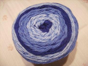 Strickgarn Lolly Pop Fb. 2, blautöne, farbverlaufend, Nadelstärke 5-6