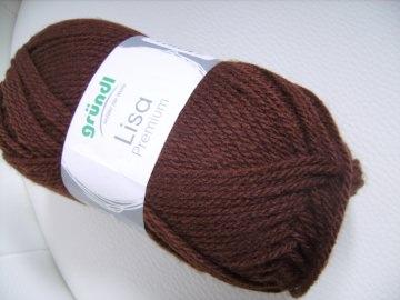 günstiges Strickgarn, Lisa premium Fb. 23, Nadelstärke 3-4, Polyacryl,   dunkelbraun