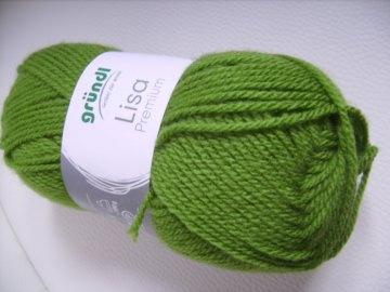 günstiges Strickgarn, Lisa premium Fb. 33, grün, Nadelstärke 3-4, Polyacryl,     - Handarbeit kaufen