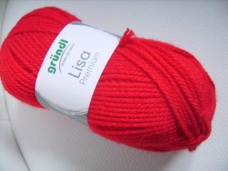 günstiges Strickgarn, Lisa premium Fb. 12, rot, Nadelstärke 3-4, Polyacryl,       - Handarbeit kaufen