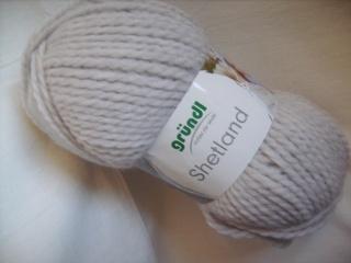 Strickgarn Shetland Fb. 5, hellgrau, voluminöses Schurwoll-Gemisch, Nadelstärke 7-8       - Handarbeit kaufen
