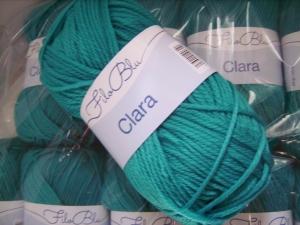 Strickgarn Clara Fb. 28, dunkeltürkis, 100%Polyester, Nd. 5-6      - Handarbeit kaufen