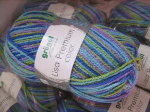 günstiges Strickgarn, Lisa color Fb. 15, Nadelstärke 3-4, Polyacryl, wildernd         - Handarbeit kaufen