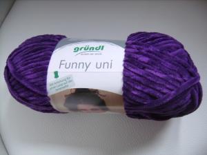 Strickgarn Funny Fb. 16, aubergine, Flauschgarn, Nadelstärke 5-6, Chenille     - Handarbeit kaufen