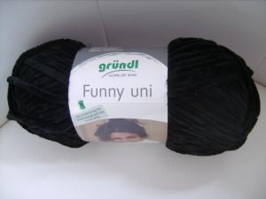 Strickgarn Funny Fb. 17, schwarz, Flauschgarn, Nadelstärke 5-6, Chenille      - Handarbeit kaufen