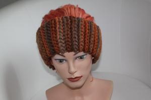 gehäkeltes Stirnband in Herbsttönen aus Handstrickgarn, KU >57 cm             - Handarbeit kaufen