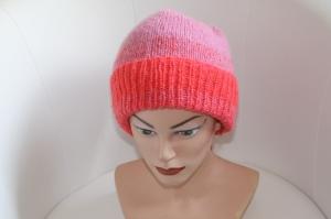 Damen-Mütze/Beanie, handgestrickt aus Wollmischgarn, KU ca. 54-57cm,  - Handarbeit kaufen