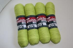 100% Baumwolle Twister curly 8 uni Fb. 71, pistazie, 60°waschbar