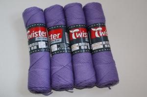 100% Baumwolle Twister curly 8 uni Fb. 43, lila, 60°waschbar           - Handarbeit kaufen