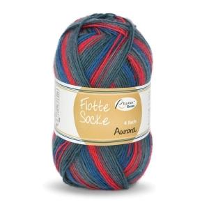 Sockenwolle Flotte Socke Aurora Fb. 1495, 4-fädig, musterbildend                  - Handarbeit kaufen