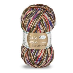 Sockenwolle Flotte Socke Scandinavia Fb. 1471, 4-fädig, musterbildend                   - Handarbeit kaufen