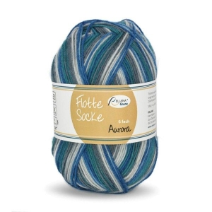 Sockenwolle 150gr. Flotte Socke Aurora Fb. 7051, 6-fädig, musterbildend       - Handarbeit kaufen