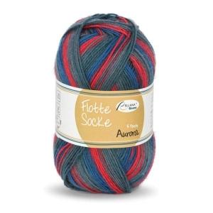 Sockenwolle 150gr. Flotte Socke Aurora Fb. 7055, 6-fädig, musterbildend       - Handarbeit kaufen