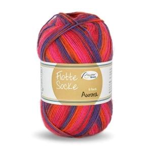 Sockenwolle 150gr. Flotte Socke Aurora Fb. 7057, 6-fädig, musterbildend         - Handarbeit kaufen