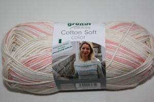 Baumwolle-Mischgarn Cotton soft color Fb. 5, langrapportiger Farbverlauf  - Handarbeit kaufen