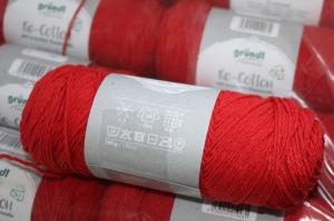 Recyceltes Baumwollgarn Re-Cotton Fb. 4, rot - Handarbeit kaufen
