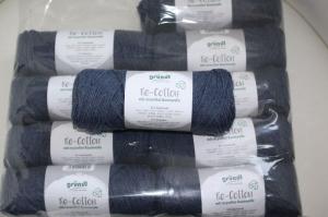 Recyceltes Baumwollgarn Re-Cotton Fb. 2, dunkelblau - Handarbeit kaufen