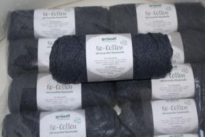 Recyceltes Baumwollgarn Re-Cotton Fb.9, anthrazit - Handarbeit kaufen