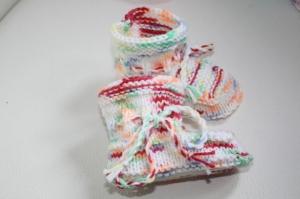 handgestrickte süße Babyschühchen, multicolor, 100%Polyacryl       - Handarbeit kaufen