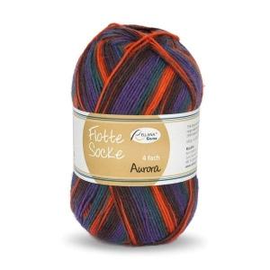 Sockenwolle Flotte Socke Aurora Fb. 1492, 4-fädig, musterbildend                  - Handarbeit kaufen