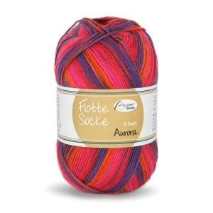 Sockenwolle Flotte Socke Aurora Fb. 1497, 4-fädig, musterbildend                  - Handarbeit kaufen