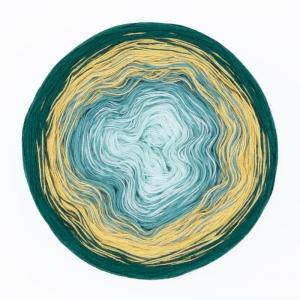 200gr. Bobbel  Rosella Fb. 2,  farbverlaufend, Baumwoll-Mischgarn       - Handarbeit kaufen