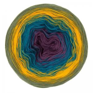 200gr. Bobbel  Rosella Fb. 3,  farbverlaufend, Baumwoll-Mischgarn        - Handarbeit kaufen