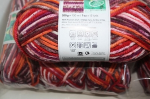 Strickgarn Bravo Big color Fb. 93, 200gr. Knäuel, Schalwolle, Nd. 10   - Handarbeit kaufen