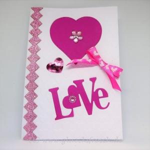 Glückwunschkarte LOVE - Handarbeit kaufen