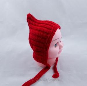 Zwergenmütze, Babymütze in rot für ein neugeborenes Baby - Handarbeit kaufen
