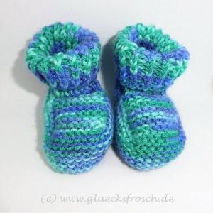 Babyschuhe, blau, grün, hellblau, superweich  - Handarbeit kaufen