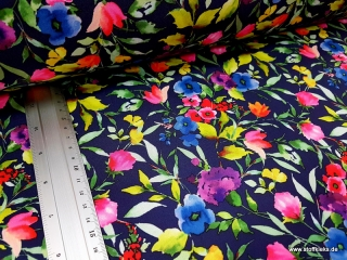 Softshell | Blumen | blau/bunt