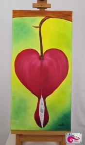 *Tränendes Herz* - Ölmalerei auf Keilrahmen 30x60 cm