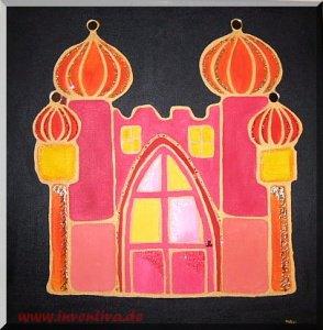 *Orient* - Acrylbild auf Keilrahmen - Mischtechnik