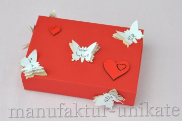 1. Hochzeitstag - Papierhochzeit - Geschenkverpackung für kleine Geschenke