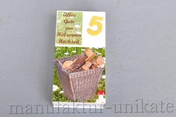 5. Hochzeitstag - Hölzerne Hochzeit - Geldgeschenk